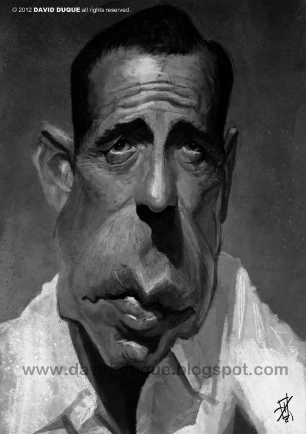 Caricatura de Humphrey Bogart