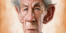 Caricatura de Ian McKellen