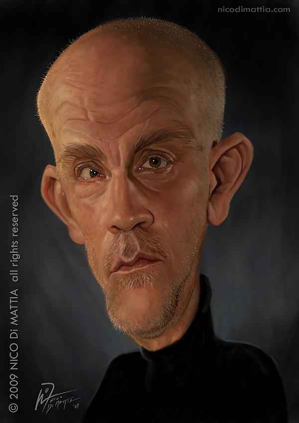 Caricatura de John Malkovich