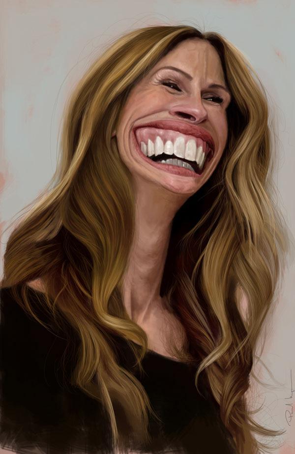 Caricatura de Julia Roberts