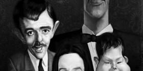 Caricatura de La Familia Addams