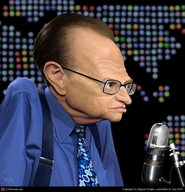 Caricatura de Larry King