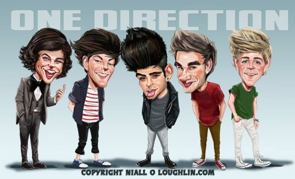 Caricatura de One Direction