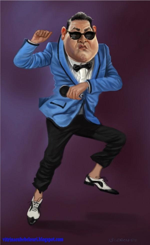 Caricatura de PSY (Gangnam Style)
