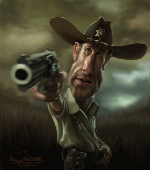Caricatura de Rick Grimes (The Walking Dead)