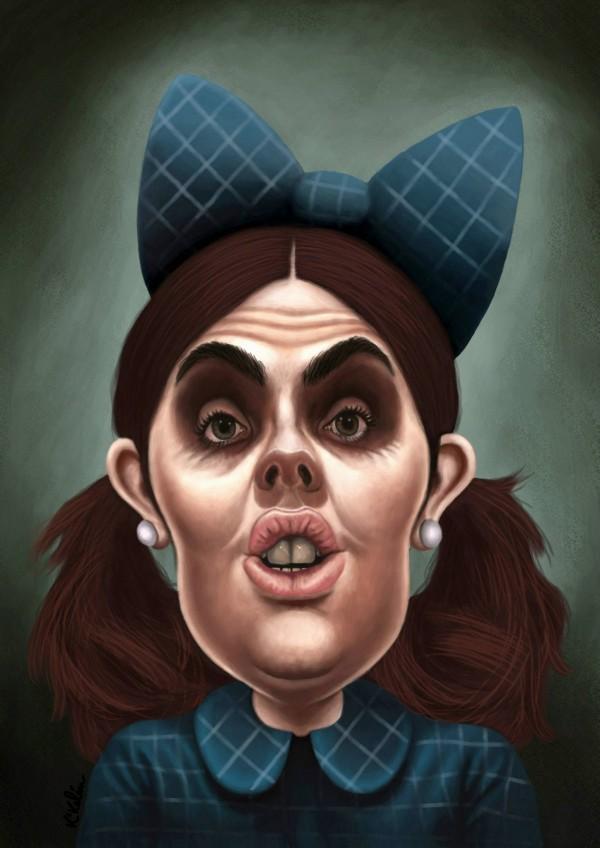 Caricatura de Soraya Sáenz de Santamaría