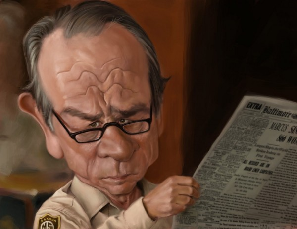 Caricatura de Tommy Lee Jones