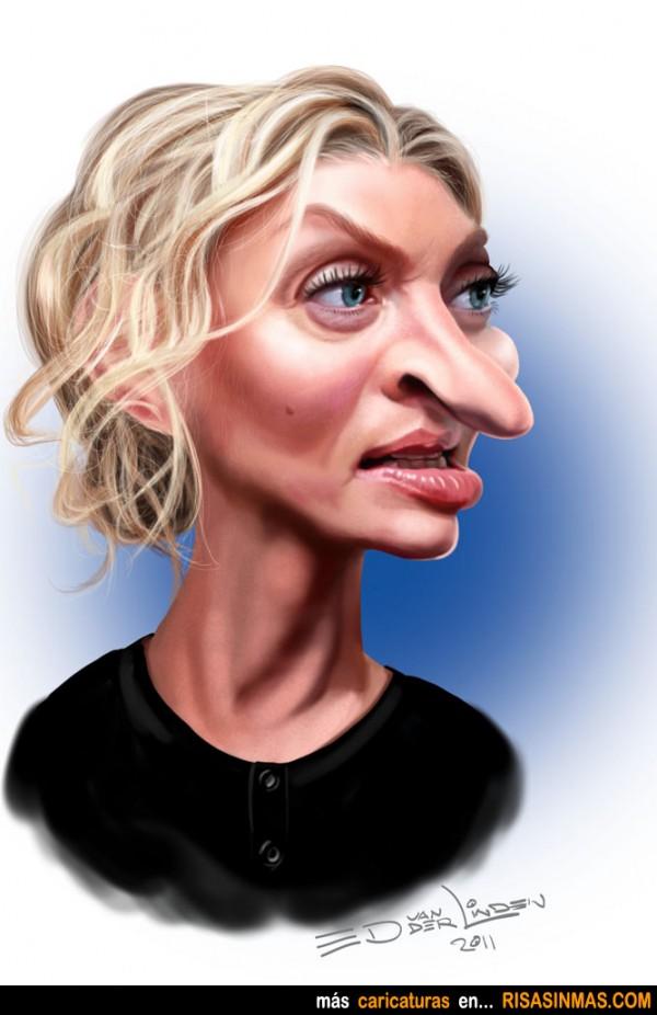 Caricatura de Uma Thurman