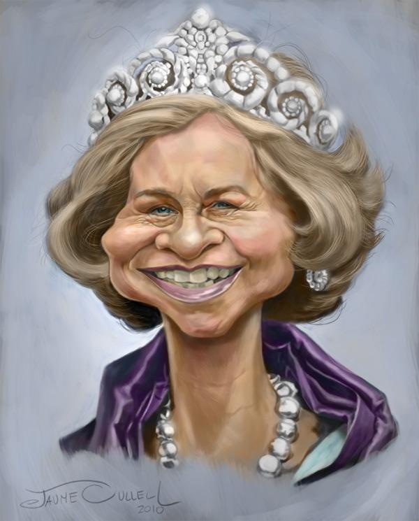 Caricatura de la Reina Sofía