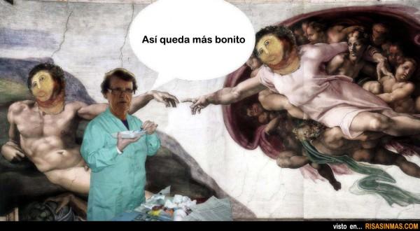 Cecilia Giménez restaura La creación de Adán
