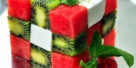 Cubo de Rubik ensalada de verano