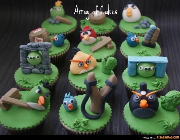 Cupcakes originales: Angry Birds