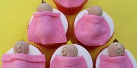 Cupcakes originales: Bebés dormidos