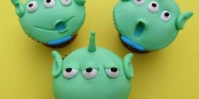 Cupcakes originales: Hombrecillos verdes (Aliens de Toy Story)