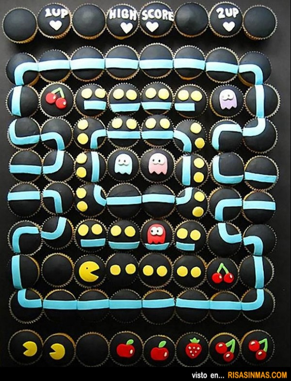 Cupcakes originales: Pac-Man
