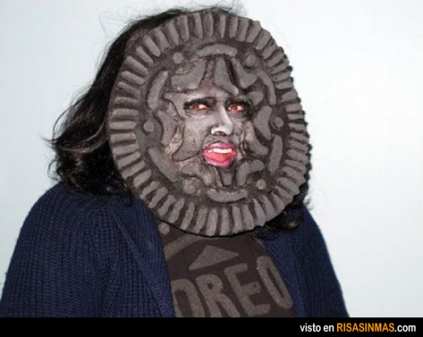 Disfraces horrorosos: galleta Oreo