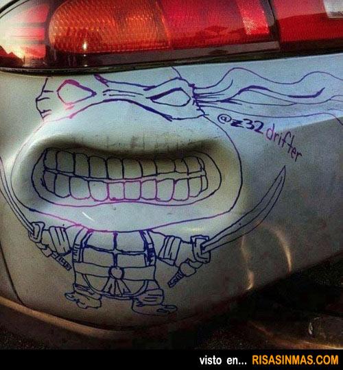 Disimular un bollo con mucho arte