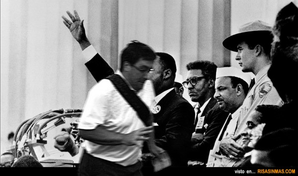 El arruina fotos en el discurso de Martin Luther King