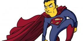 El hombre de acero (Man of Steel) Simpsonizado