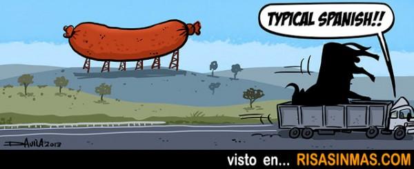 En España cambiamos los Toros por los chorizos