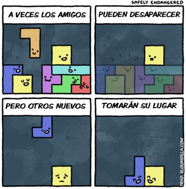 Filosofía Tetris de los amigos