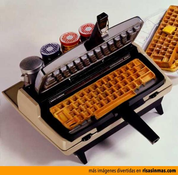 Gofres con forma de teclado
