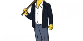 Jason Statham simpsonizado