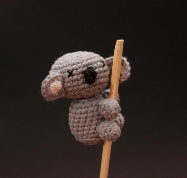 Koala hecho con amigurumi