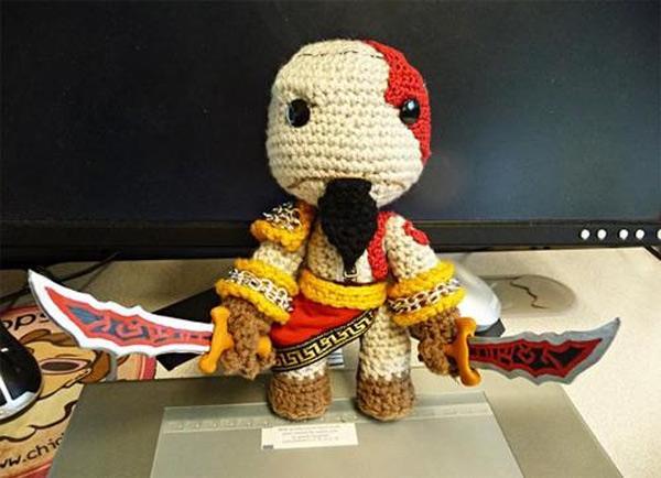 Kratos versión amigurumi