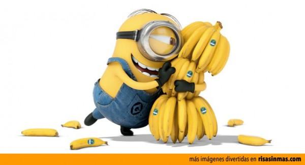 Los Minions y su amor por las bananas