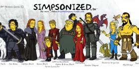 Los personajes de Juego de Tronos con el estilo de Los Simpson