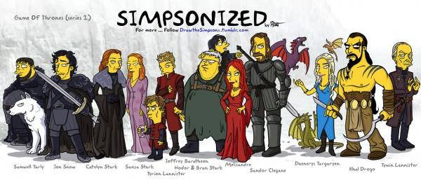 personajes de Juego de Tronos con el estilo de Los Simpson