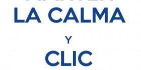 Mantén la calma y clic Me gusta