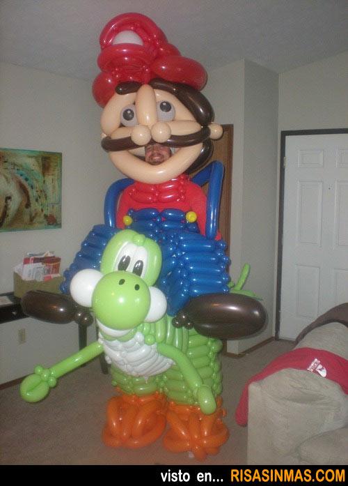 Mario Bros hecho con globos