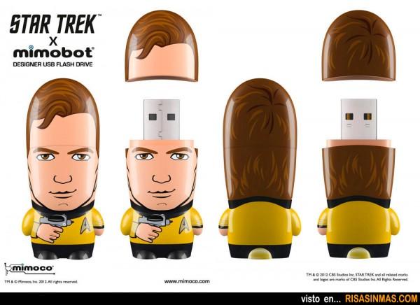 Memorias USB originales Capitán Kirk de Star Trek