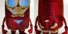Minion Iron Man realizado con papel