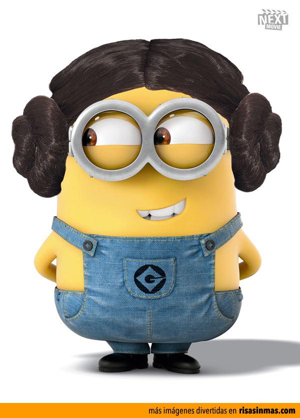 Minion disfrazado de Princesa Leia