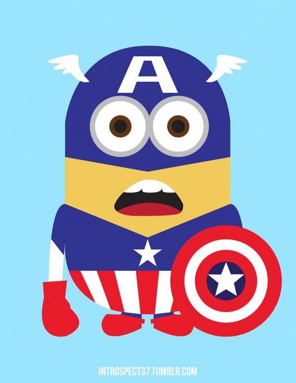 Minions como superhéroes: Capitán América