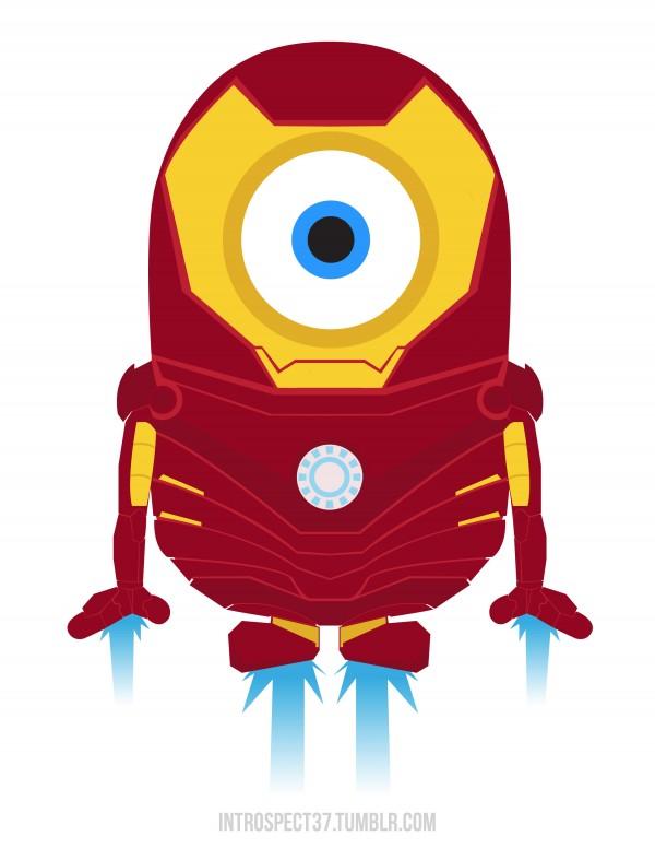 Minions como superhéroes: Ironman