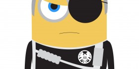 Minions como superhéroes: Nick Fury