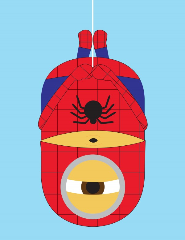 Minions como superhéroes: Spiderman