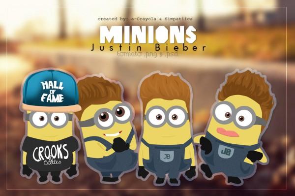 Minions fans de Justin Bieber