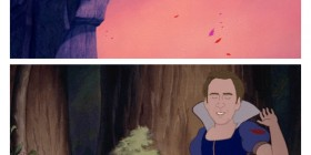 Nicolas Cage como Princesas de Disney