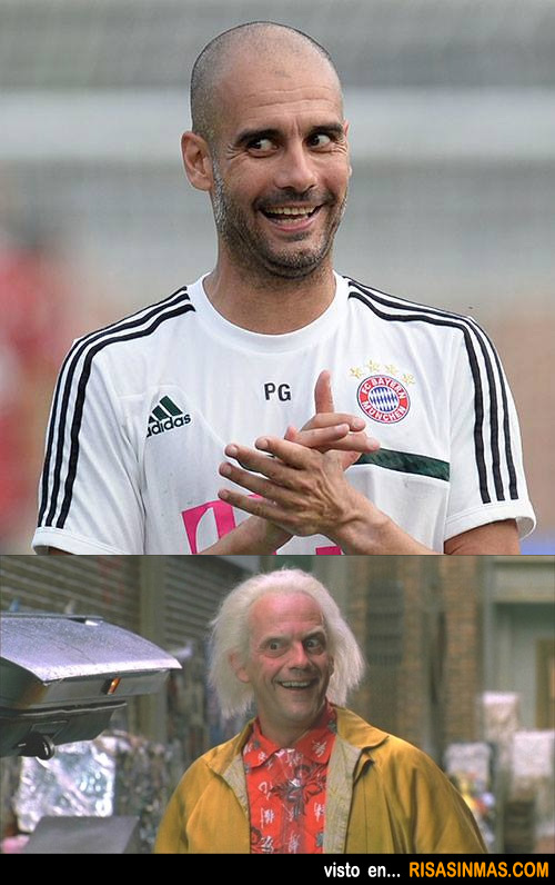 Parecidos razonables: Pep Guardiola y Doc (Regreso al futuro)