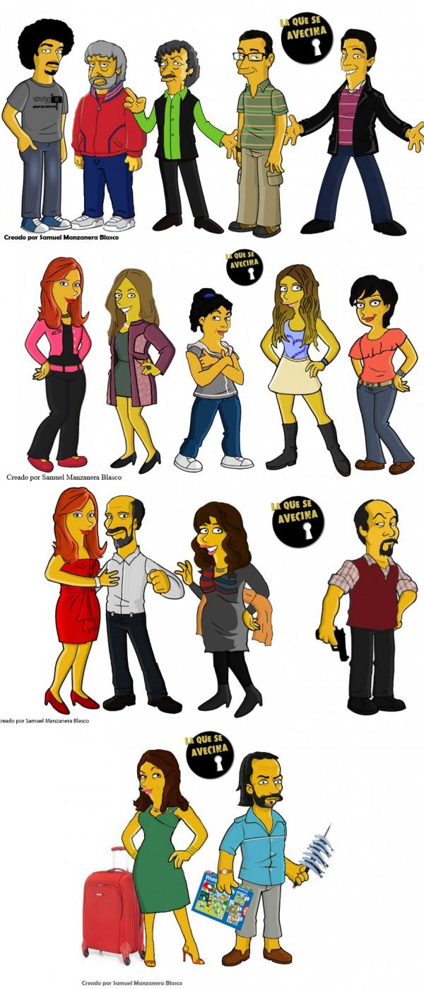 Personajes La que se avecina simpsonizados