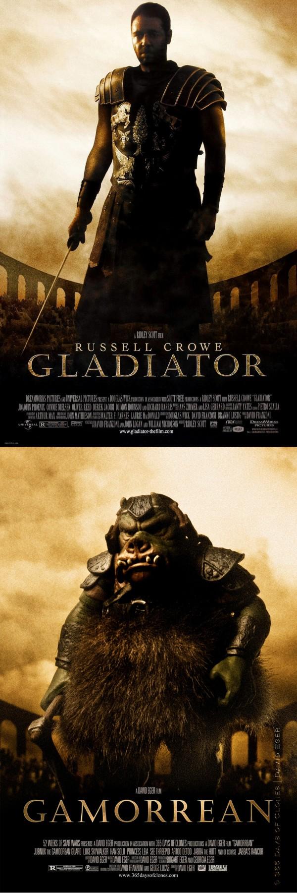 Fotografías clonadas: Póster de Gladiator