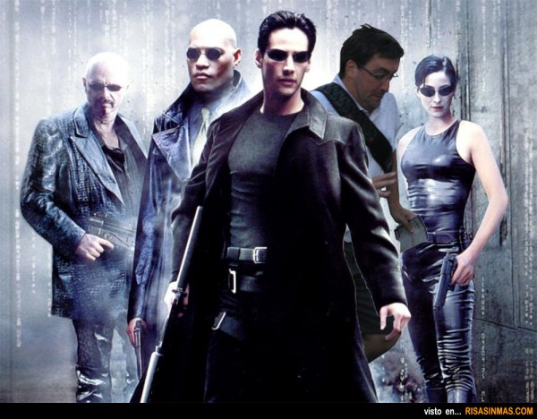 El verdadero póster de Matrix con el arruina fotos