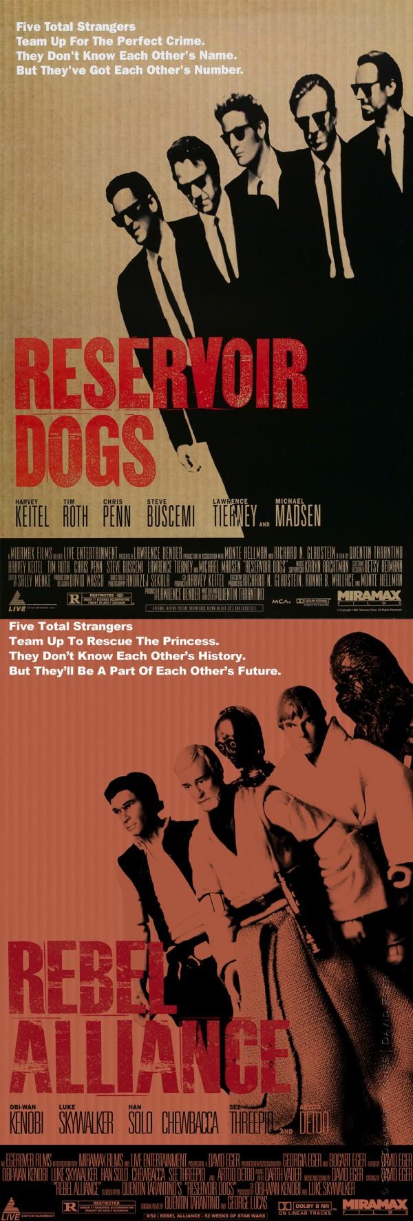Póster de Reservoir Dogs clonificado