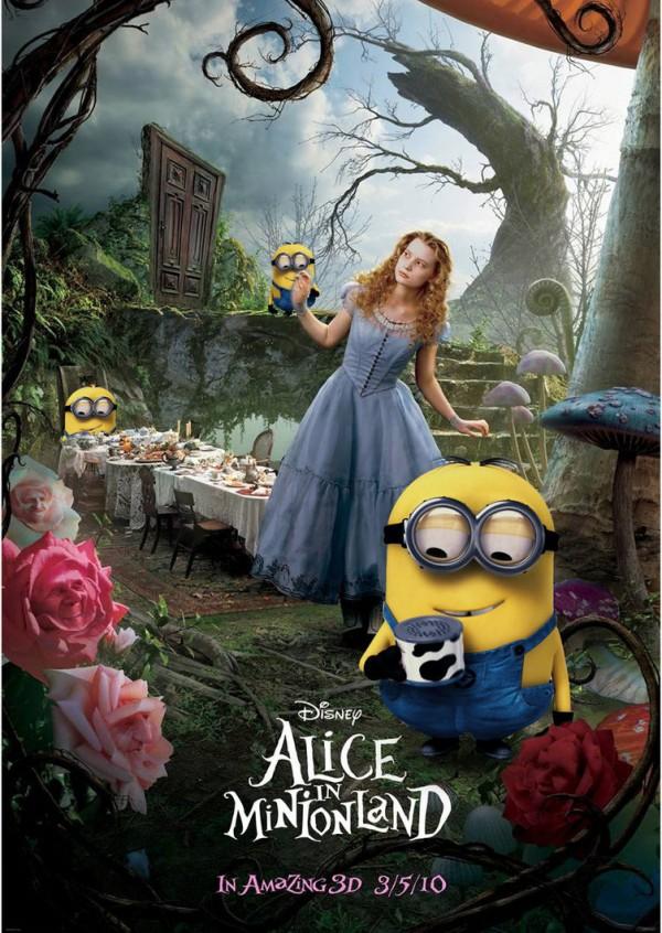 Pósters de cine: Alicia en Minionland
