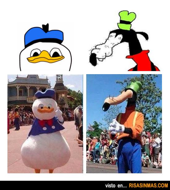 Si el Pato Donald y Goofy fueran como los dibujamos